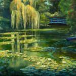 Monet Water Lily Garden Iii Giverny France Painting Elaine