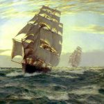 Montague Dawson Flying Cloud Painting Best Paintings