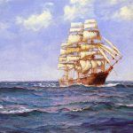Montague Dawson Rollicking Days Painting Best Paintings