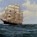 Montague Dawson Under Sail Painting Anysize Off