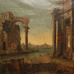 Monumental Roman Painting Ancient Ruins People Sale
