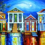 Moon Over New Orleans Painting Diane