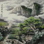Morning Mountain Village Chinese Landscape Painting Landscapes Asia