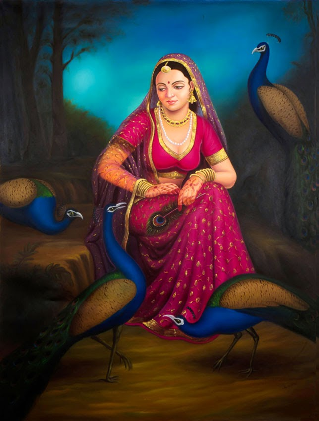 Most Beautiful Indian Oil Paintings Fine Art Painting Digital