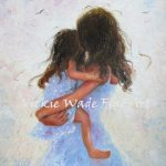 Mother Daughter Art Print Loving Hugs