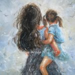 Mother Daughter Art Print Paintings Mom