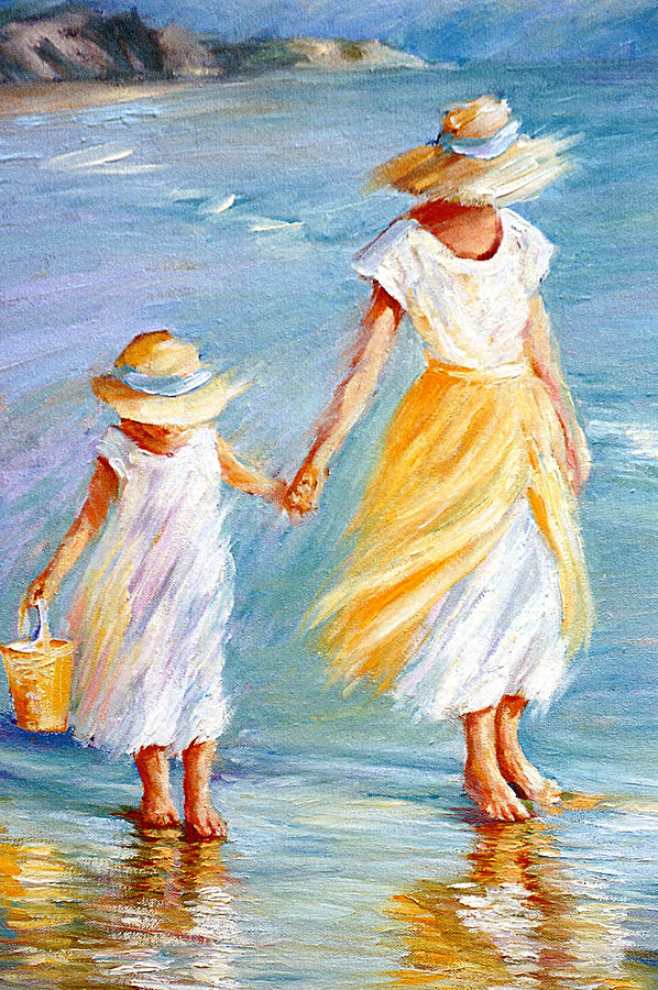 Mother Daughter Painting September