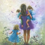 Mother Three Daughters Painting Vickie
