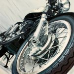 Motorcycle Art Guenevere Schwien Megadeluxe Love Speed Sport
