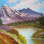 Mountain Lake Painting Tetyana
