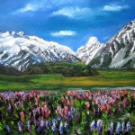 Mountains Landscape Acrylic Painting Natalja