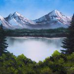 Mountainscape Bob Ross Freehand Landscapes Painting Oil
