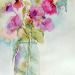 Nancy Standlee Fine Art Watercolor Floral Painting Arlington Museum