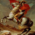 Napoleon Crossing Alps Painting Jacques Louis