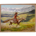 Native American Indian Original Oil Painting Gregory Perillo Seasideartgallery Ruby