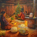 Navajo James King Painting Holiday