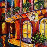 New Orleans Original Oil Painting French Quarter Glow Beata