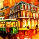New Orleans Streetcar Painting Diane