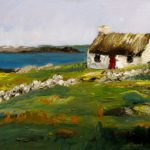 Norma Wilson Original Oil Irish Landscape Seascape Cottage
