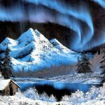 Northern Lights Bob Ross Art Charming Winter Scenes Pinterest Piedras Pintadas