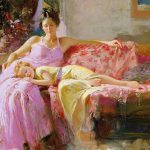 Nude Painting Modern Pino Daeni Place Heart Sale Oil Paintings Canvas