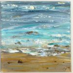 Ocean Painting Textured Abstract Beach Modern Art