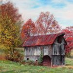 Off Beaten Track Old Barn Red Roof Painting Bonnie