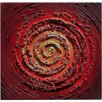 Oil Painting Abstract Modern Heavy Texture Red Swirl Contemporary Paintings