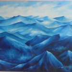 Oil Painting Blue Mountains Buy Product