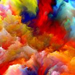 Oil Painting Colorful Clouds Best Htc