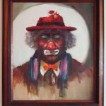 Oil Painting Emmitt Kelly World Most Famous Tramp Clown Ilona Rittler Collectors