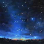 Oil Painting Night Sky Seven Sisters Deb