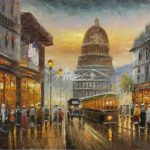 Oil Painting Paris Street Paintings Sale Cheap