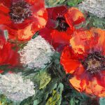 Oil Painting Poppies Flowers Country Shop