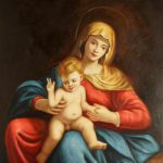 Oil Painting Stretched Canvas Madonna