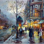 Oil Paintings Modern City Streets