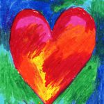 Oil Pastel Hearts Art Projects Kids
