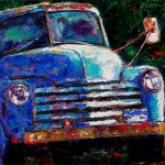 Old Chevy Truck Painting Debra