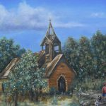 Old Country Church Painting Pamela