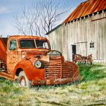 Old Farm Truck Painting Rick