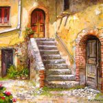 Old House Calabria Italy Painting Francesco