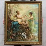 Old Master Art Antique Oil Painting Portrait Fairy Girl Canvas