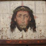 Old Painting Jesus Found Behind Altar Church