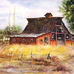 Old Red Barn Painting Hazel
