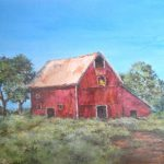 Old Red Barn Painting Mary Jane