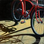 Old Red Classic Bike Painting Linda