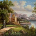 Old Style Forest Oil Paintings Sale Cheap