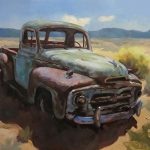 Old Trucks Tractors Painting Side