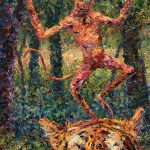 Only Crazy Monkey Dances Tiger Head Painting James