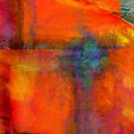 Orange Abstract Painting Art